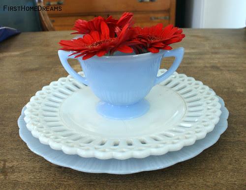delphite pyrex sugar bowl milk glass lace plate delphite pyrex plate