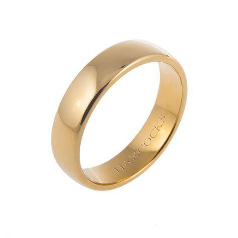 Gents 18ct Yellow Gold Wedding Ring   Hancocks Jewellers