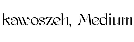 kawoszeh-medium-free-high-quality-font-for-download