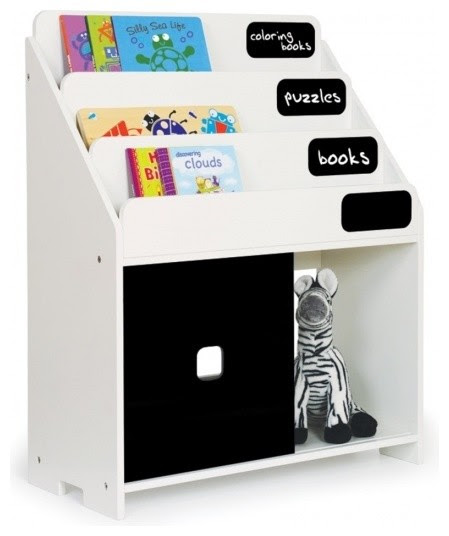Pkolino Playful Bookshelf, White contemporary toy storage