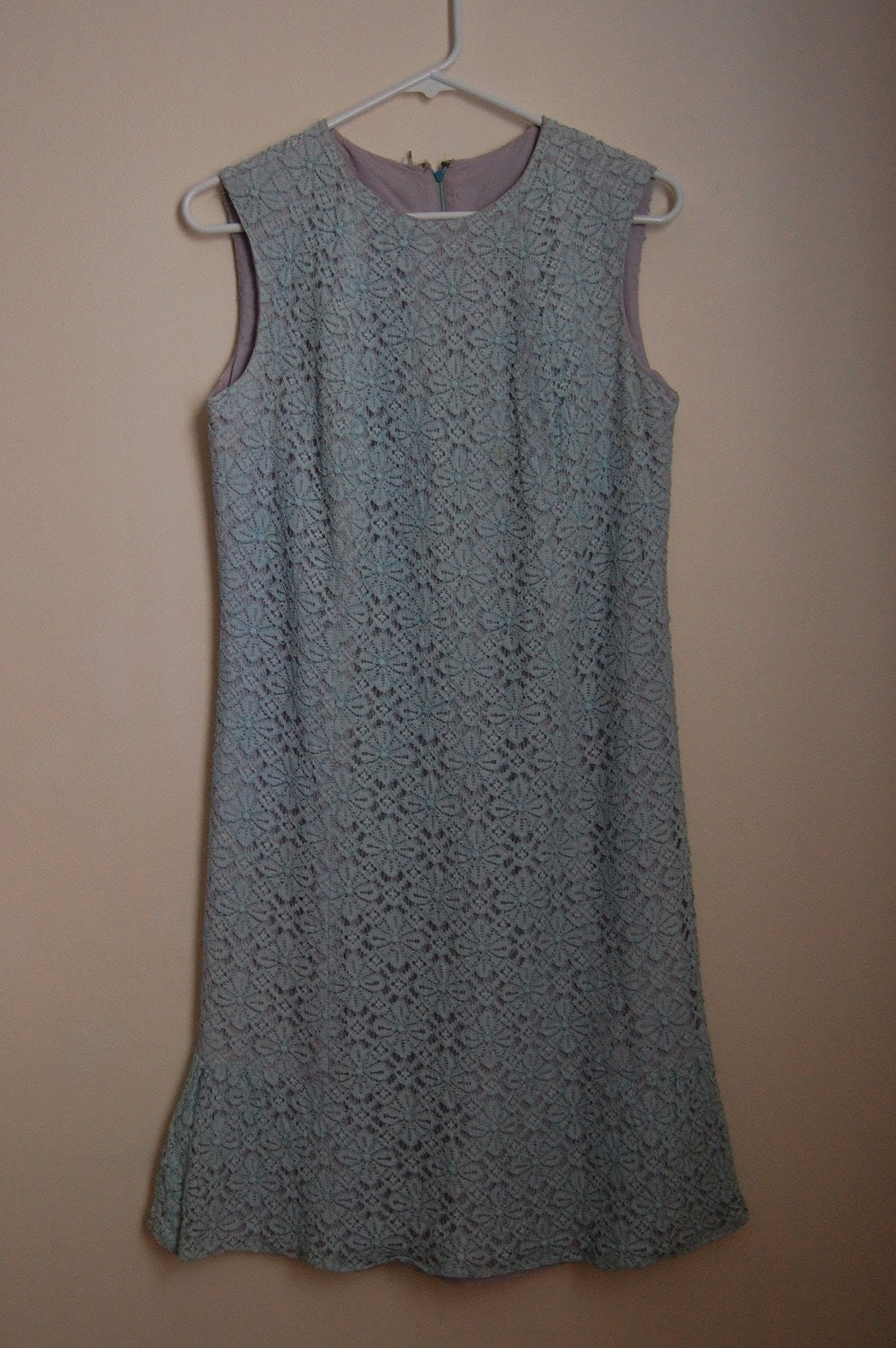 Vintage GARDEN PARTY Blue Lace Dress - Medium SALE