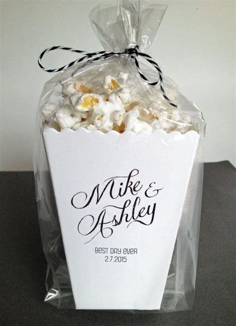 Mini Popcorn Favor Boxes   Perfect for your wedding or
