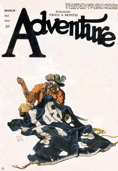 Adventure, March 3, 1919 cover by Will Crawford