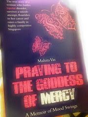 Book cover: Praying to the goddess of mercy: A memoir of mood swings/ Mahita Vas