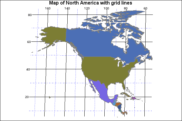North America Map With Latitude | Time Zones Map