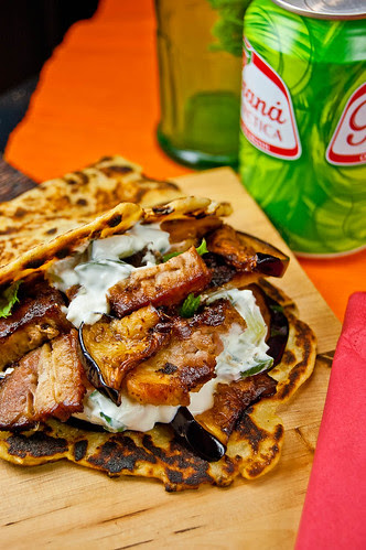 Crispy Pork Belly Gyros