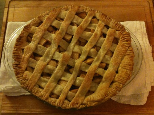 Apple pie I baked for Thanksgiving Day