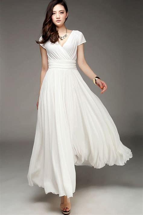 Wrapped V neck High Waist Maxi Dress   Cute maxi dress
