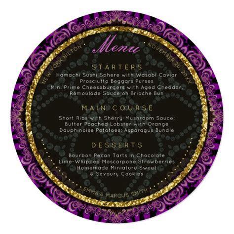 Round Plate Wedding Menu Card Designs   Webgrrl.Biz