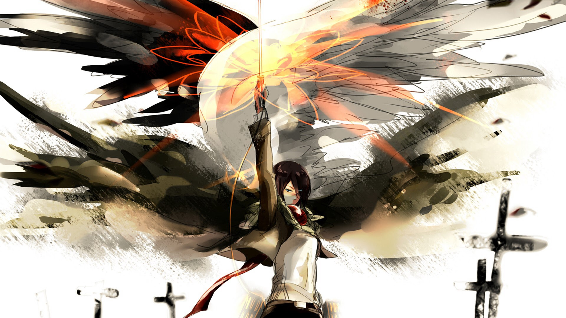 Shingeki No Kyojin Mikasa Titan Dowload Anime Wallpaper Hd