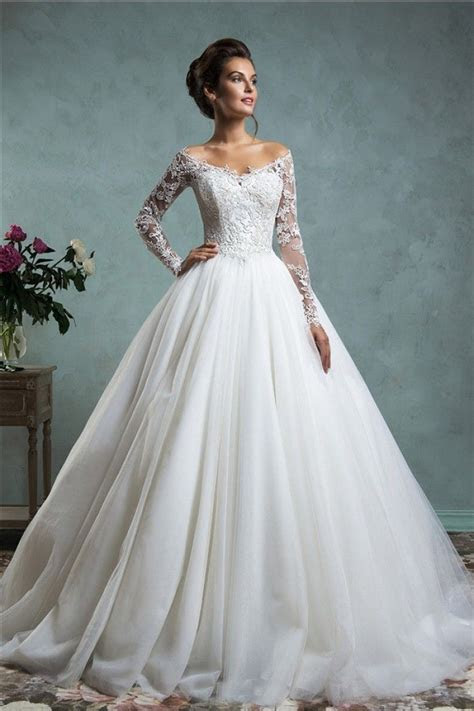 Lace wedding dresses 2018 Sexy Ball Gown Off The Shoulder