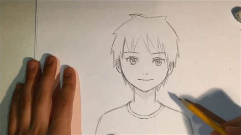 draw anime male face slow narrated tutorial