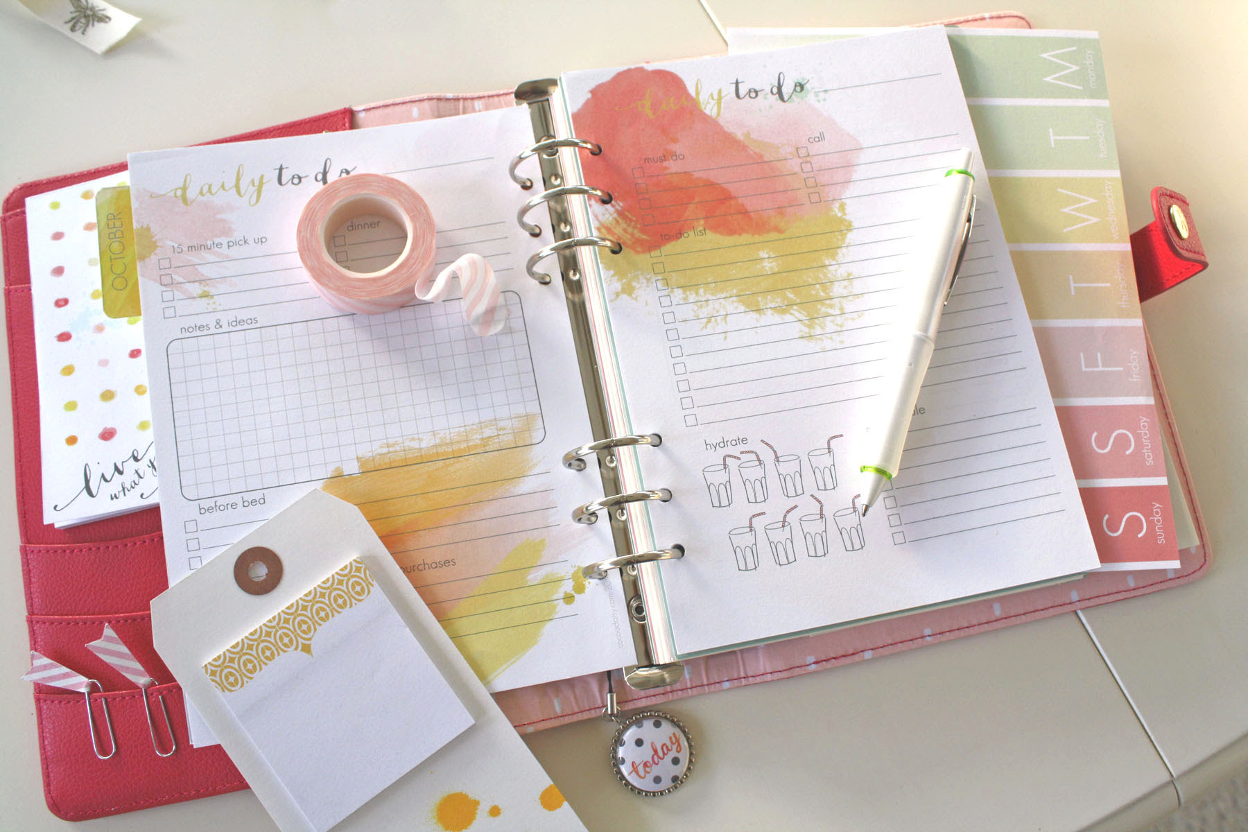 Daisy Day Planner: Setting up your planner   Cocoa Daisy