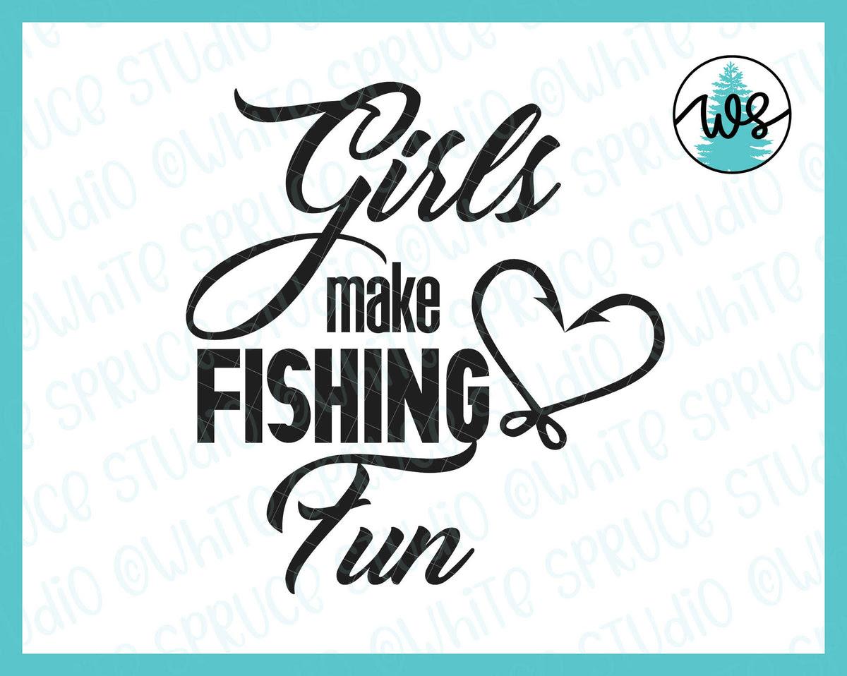 Download Fishing Logo Girls Make Fishing Fun White Spruce Studio