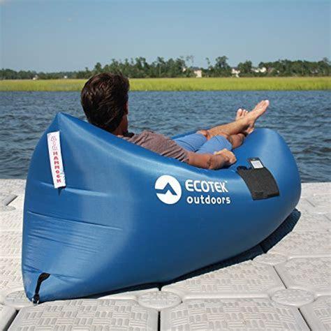 EcoTek Outdoors Inflatable Air Hammock Lounge with Premium