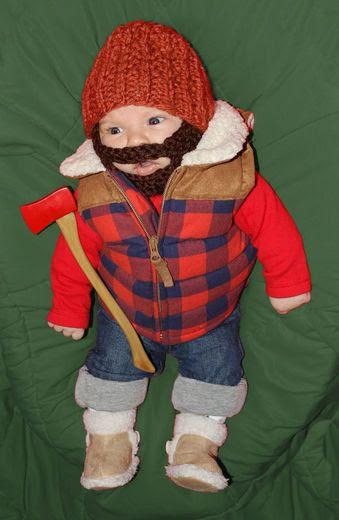 lumberjack costume, baby halloween lumberjack costume, diy halloween costume, diy baby halloween costumes, funny baby halloween costumes