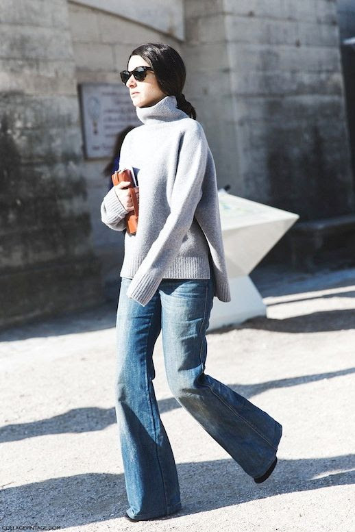 Le Fashion Blog 9 Ways To Wear Flared Jeans Wide Leg Denim Street Style Grey Sweater Via Collage Vintage photo 3-Le-Fashion-Blog-9-Ways-To-Wear-Flared-Jeans-Wide-Leg-Denim-Street-Style-Grey-Sweater-Via-Collage-Vintage.jpg