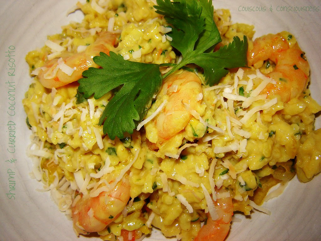Shrimp & Curried Coconut Risotto