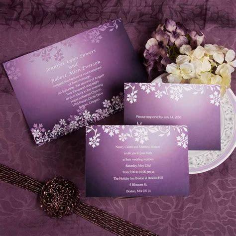 Purple Wedding Invitation Ideas   Laser Cut Wedding
