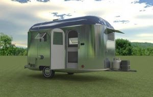 Camper rendered with HDRi sky.