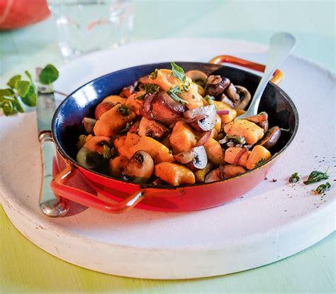kuerbis gnocchi mit pilzen annemarie wildeisens kochen