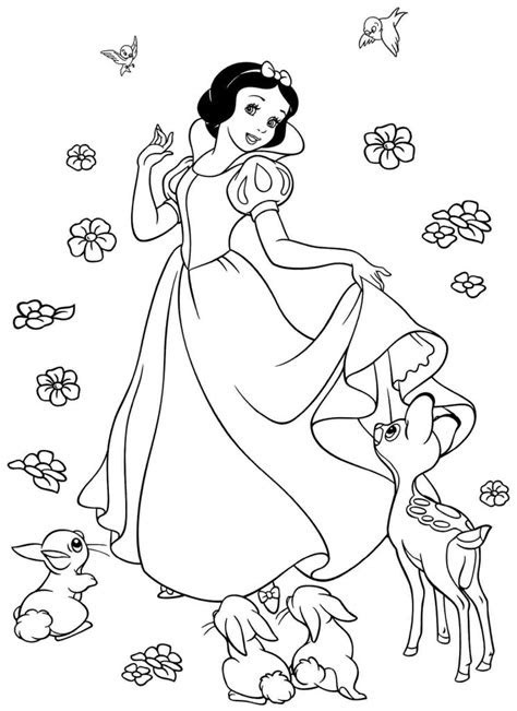 snow white coloring pages  coloring pages  kids