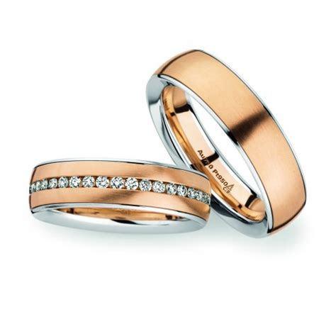 18ct Rose gold & Platinum Wedding rings   Christian Bauer