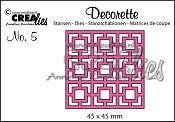 Decorette stans no. 5 / Decorette die no. 5