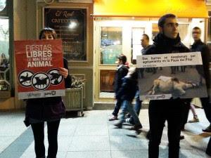 Un momento de la protesta. Foto: @Puyalon