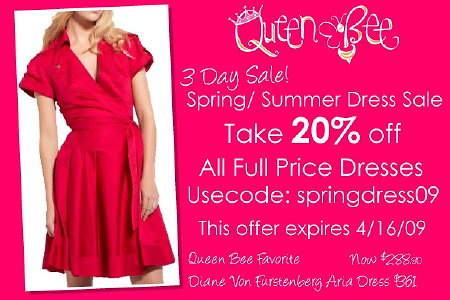 Spring - Summer Dress Sale at Queen Bee
