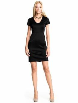 Women: Sheath knit dress - Black