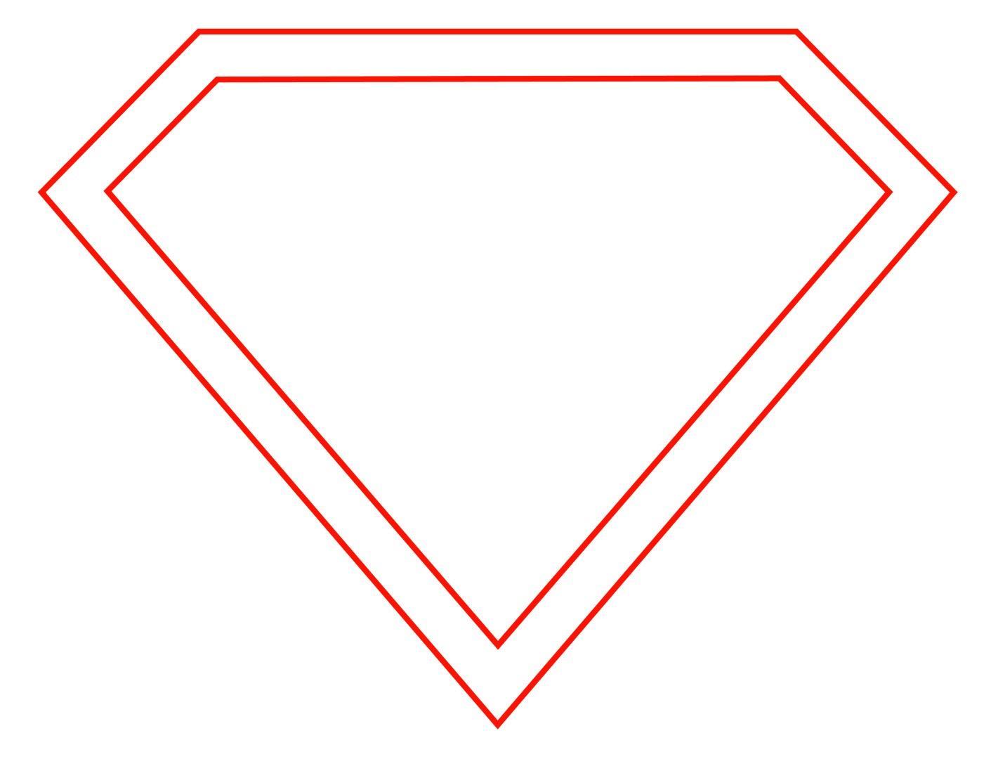 Blank Superman Logo Template - ClipArt Best