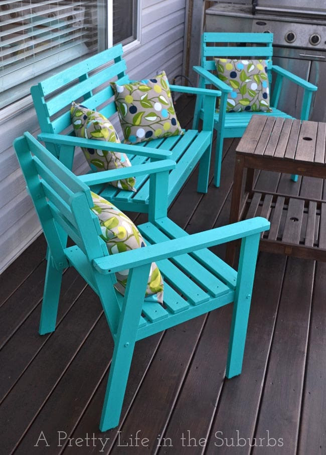 Our Deck Makeover Part 1: Painting Deck Furniture - A ...