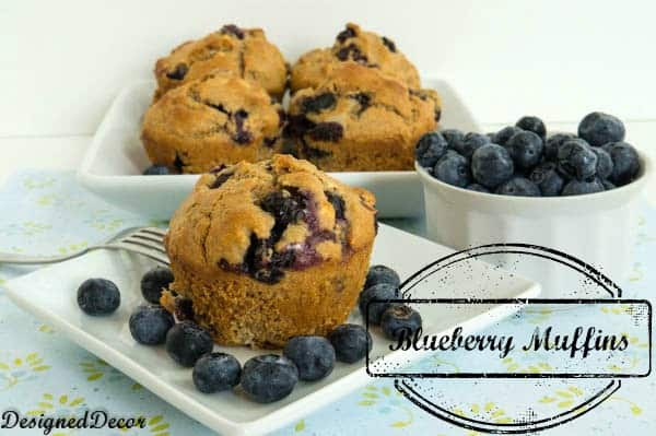 Healthly Blueberry Muffins-Pinnable