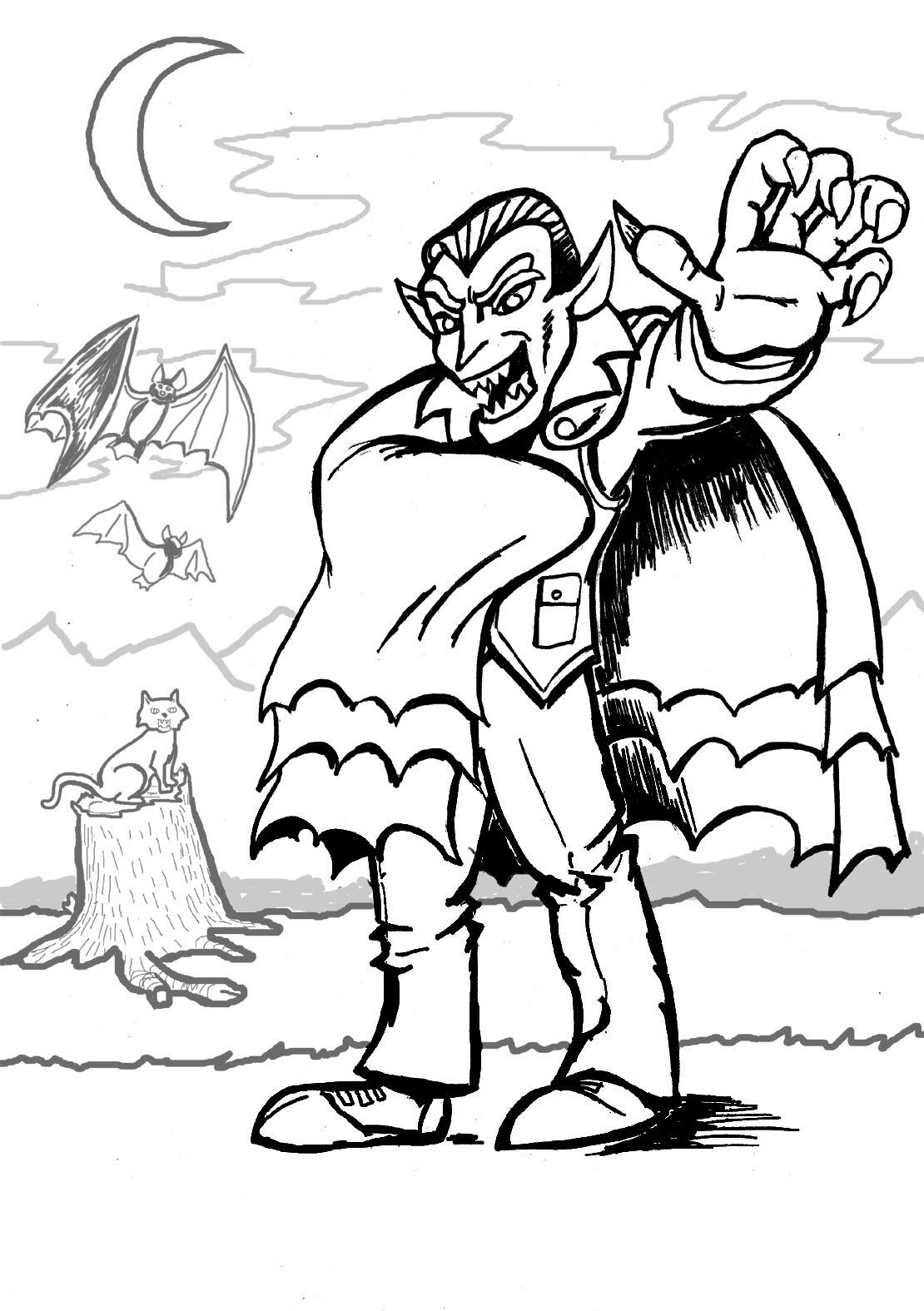Vampire Drawing For Kids at GetDrawings | Free download