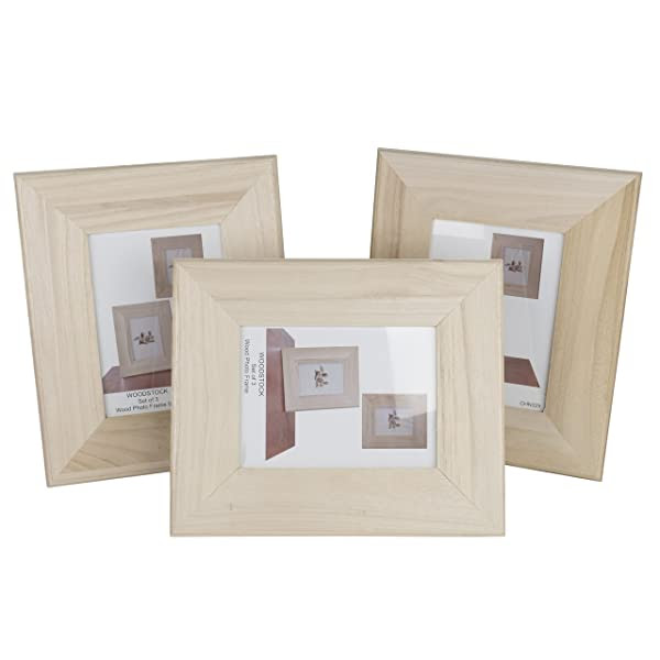 Unfinished Solid Wood Photo Picture Frames 5 By 7 Inches Ready To