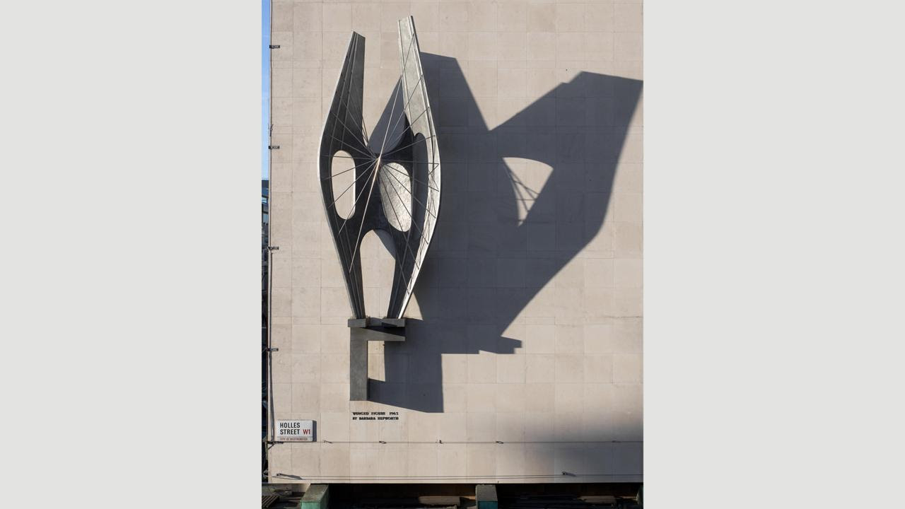 Barbara Hepworth's Winged Figure (Credit: Credit: Historic England)