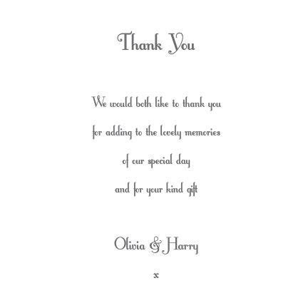 Wedding Thank You Wording   Graduation Thank You Card
