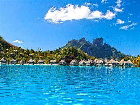 perfect blue lagoon ocean water villas bungalows