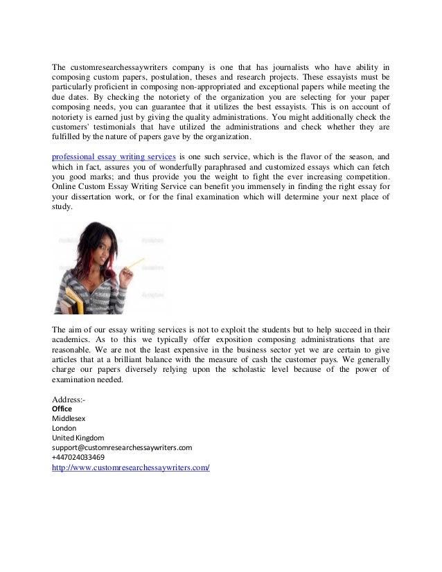 professional essay writing service kids