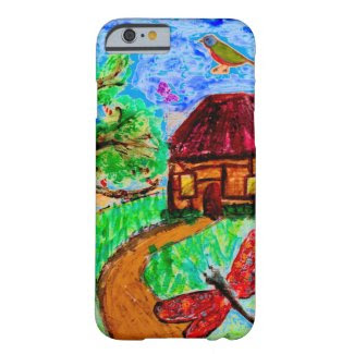 Fanciful Folk Art Landscape on iPhone 6/6S Case Barely There iPhone 6 Case