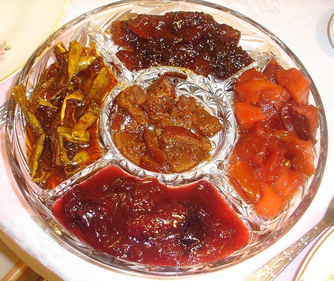 Symbolic food of the Jewish holiday Rosh HaSha...
