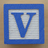 Educational Brick Letter V