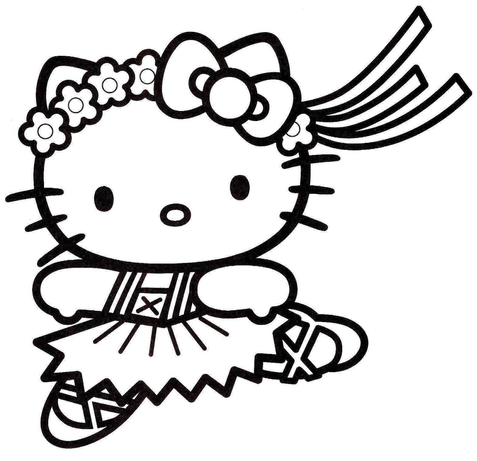 coloriage hello kitty 3