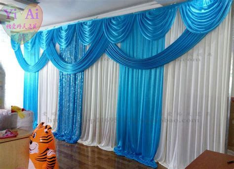 Wedding props decoration curtain blue background wedding