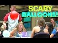 Scaring people with ballons