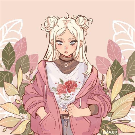 aesthetic flower girl drawing tumblr home decor ideas