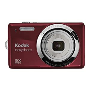 Kodak EasyShare M23 14 MP Digital Camera with 5x Optical Zoom and 2.7-Inch LCD (Red)