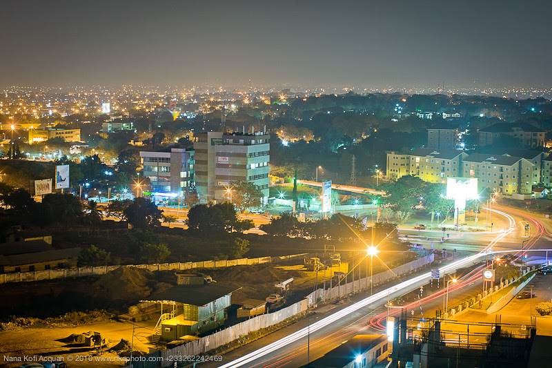 Accra by night