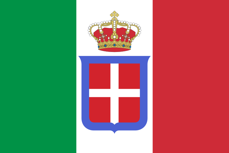Archivo:Flag of Italy (1861-1946) crowned.svg